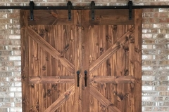 knotty pine barn doors