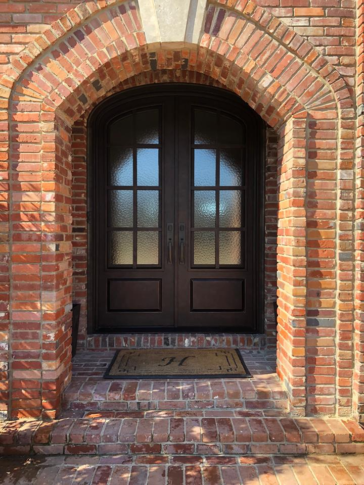 Custom Iron Door install