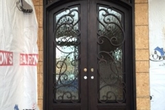 new const iron door install