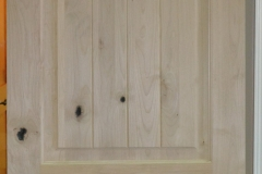 Knotty Pine 2-panel Square top V-Groove
